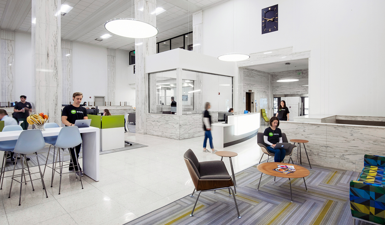 Renovation of Shipt headquarters in John Hand Building completed