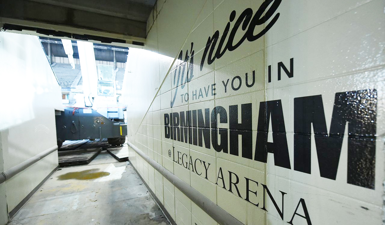 See what Legacy Arena looks like during renovation