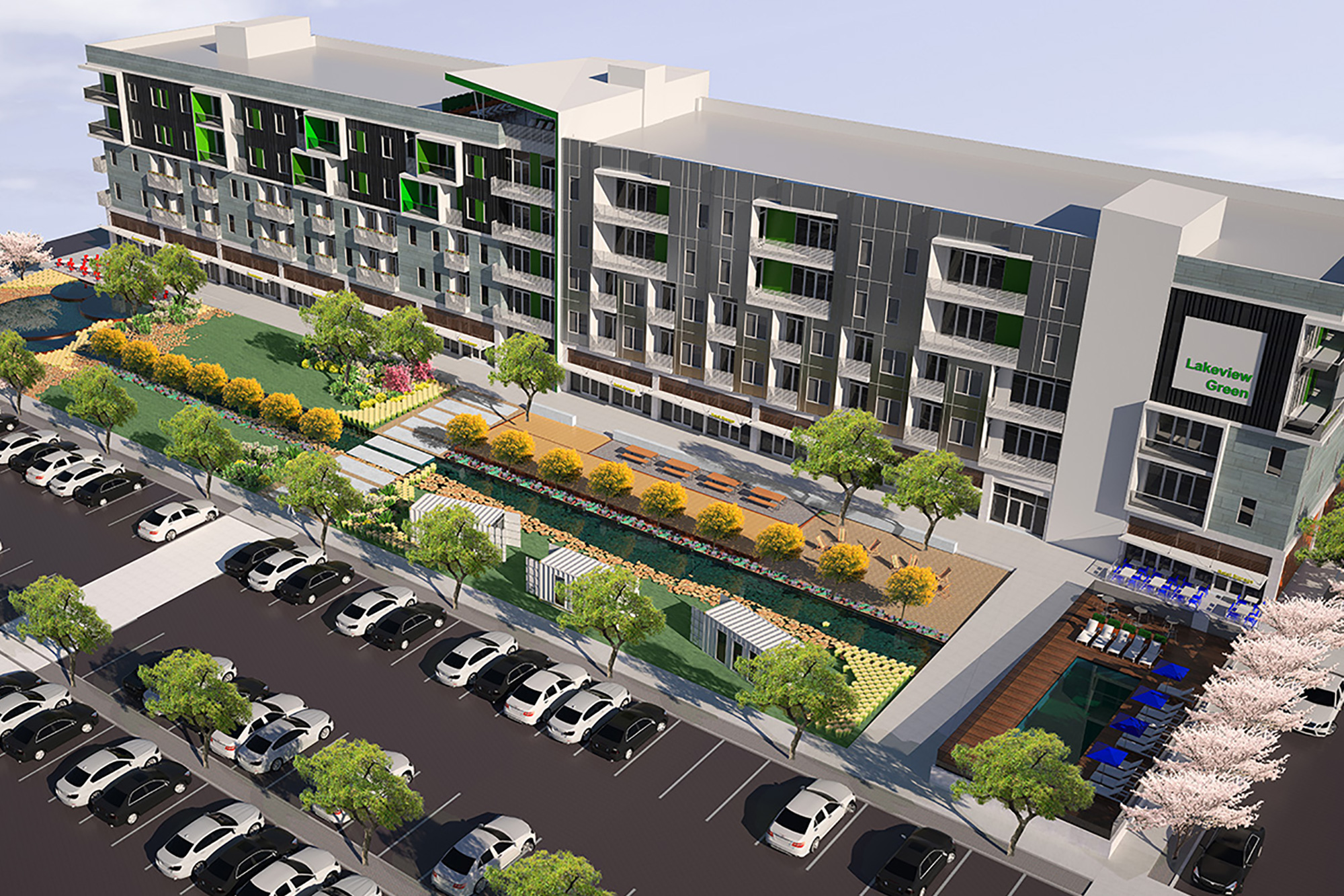 Leasing underway at Lakeview Green apartment community in Southside
