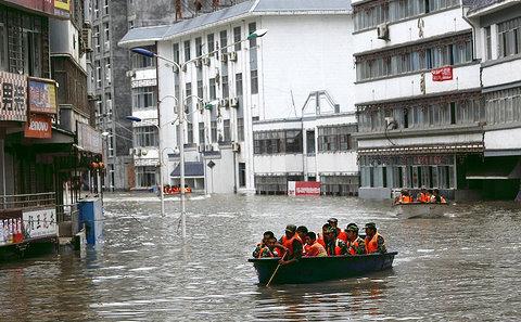 洪水災害亦隨著城市化進程從沿海城市移動到了內陸城市。圖片來源:Aly Song