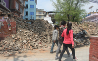Index_peple-passing-from-the-fallen-temple-at-thapathali1