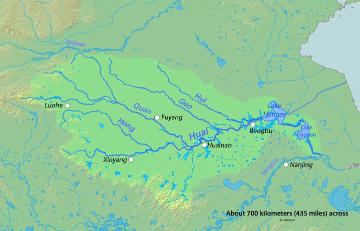 Huai river watershed