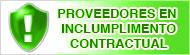 Proveedores en incumplimiento contractual