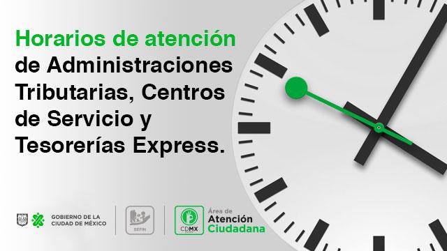 Horarios de Atención de oficinas