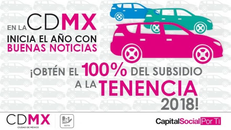 ¡Obtén el 100% del Subsidio a la Tenencia 2018!