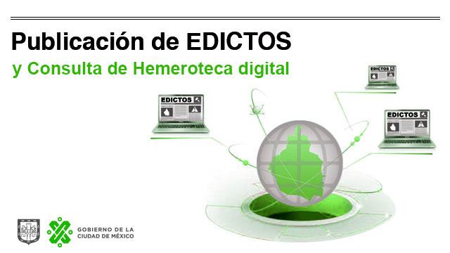 Publicación de Edictos y Consulta de Hemeroteca Digital