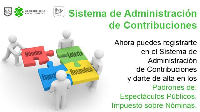 Sistema de Administración de Contribuciones