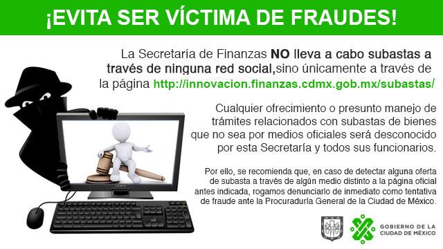 ¡Evita ser víctima de Fraudes!