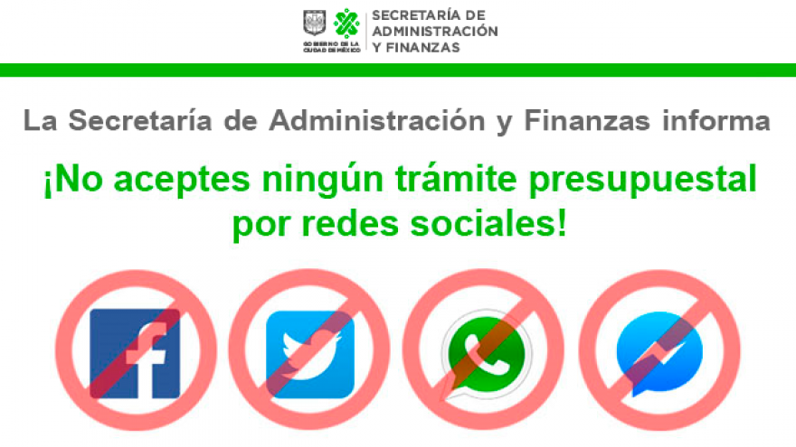 La Secretaría de Administración y Finanzas informa