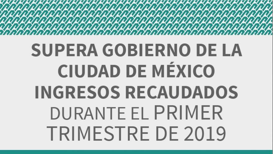 Supera Gobierno de la CDMX ingresos recaudados