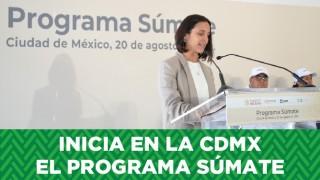 Inicia en la CDMX el Programa Súmate