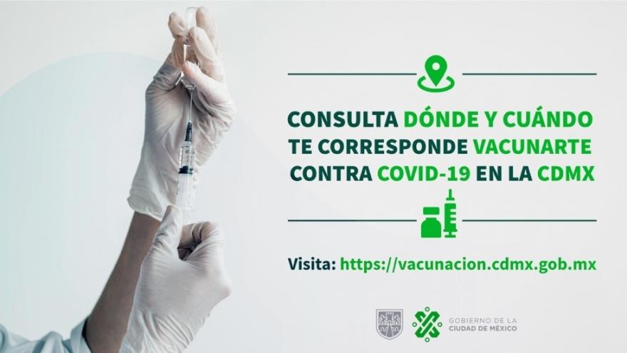 Si eres persona mayor de 60 años, consulta dónde y cuándo te puedes vacunar contra COVID-19