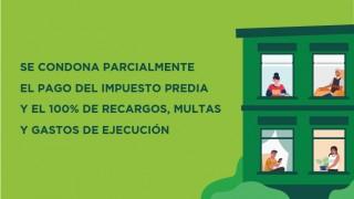 SE CONDONA PARCIALMENTE EL PAGO DEL IMPUESTO PREDIAL