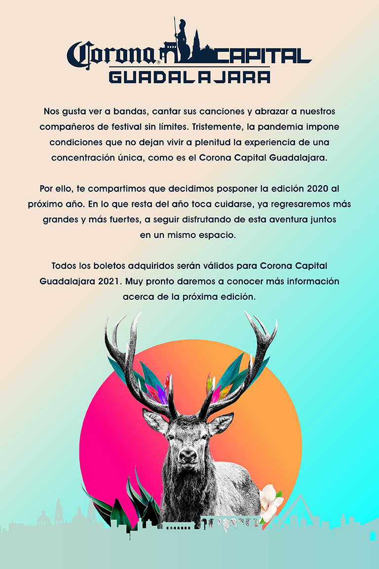 Cartel Corona Capital Guadalajara