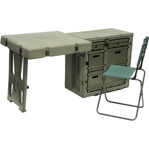 Pelican - 472 Single Field Desk with chair