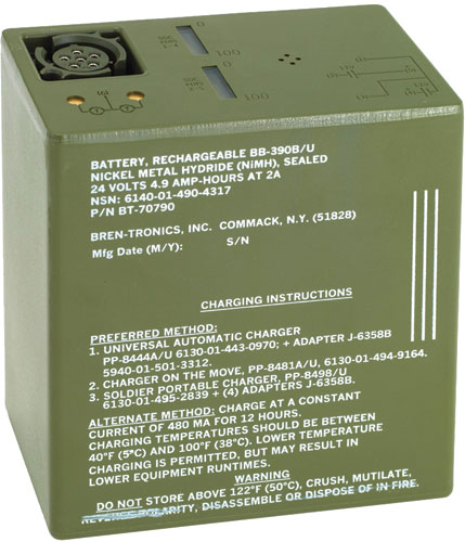 Bren-Tronics - BB-390B/U, 24.0V, 4.9Ah Rechargeable Nickel Metal Hydride Battery