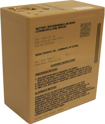 Bren-Tronics - BB-2590/U, 28.8V, 7.5Ah Rechargeable Lithium-Ion Battery