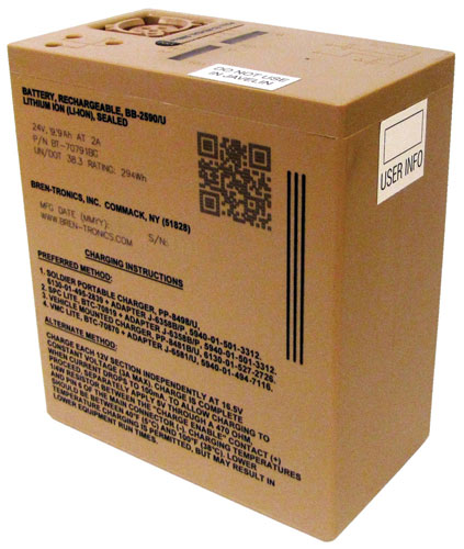 Bren-Tronics - RECHARGEABLE LI-ION BATTERY,BB-2590/U, 294WH