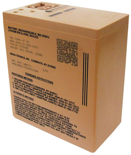 Bren-Tronics - RECHARGEABLE Lithium-Ion BATTERY,BB-2590/U, 225WH