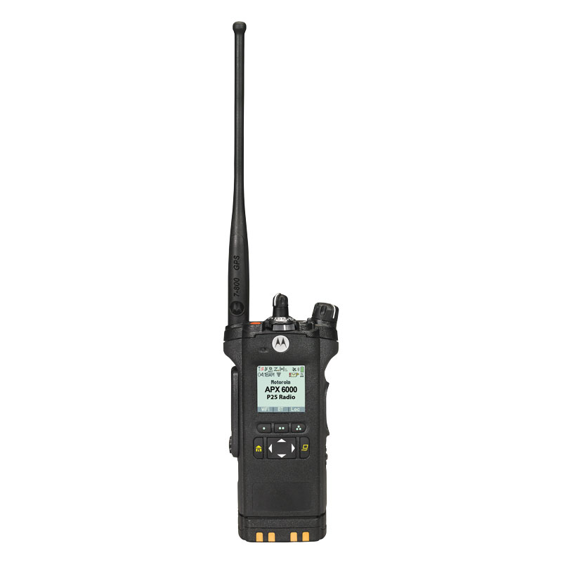 Motorola Solutions - APX<sup>TM</sup> 6000 Single-Band P25 Portable Radio 700/800 MHz Model 2.5