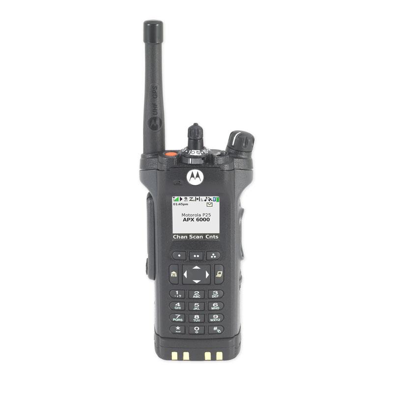 Motorola Solutions - APX<sup>TM</sup> 6000 Single-Band P25 Portable Radio UHF Range 1 Model 3.5