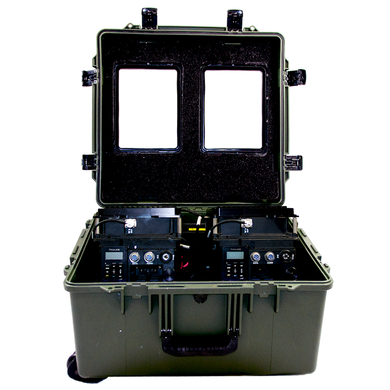 Thales - 50 Watt Tactical Repeater Suitcase Configuration with Two Vehicle Adapters