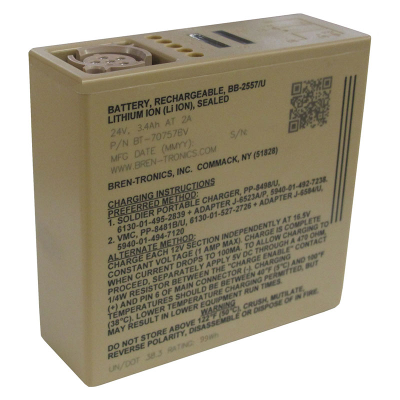 Bren-Tronics - BB-2557/U, 28.8V, 3.3Ah High Capacity Rechargeable Lithium-Ion Battery