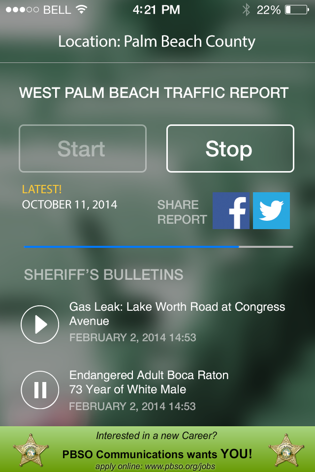 Audio Traffic Palm Beach