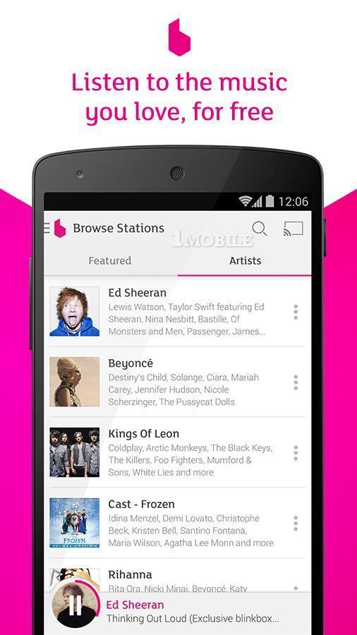 blinkbox Music Free Streaming