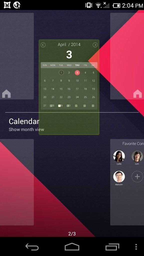 Calendar Panel