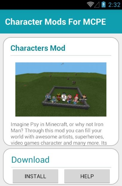 Character Mods For MCPE