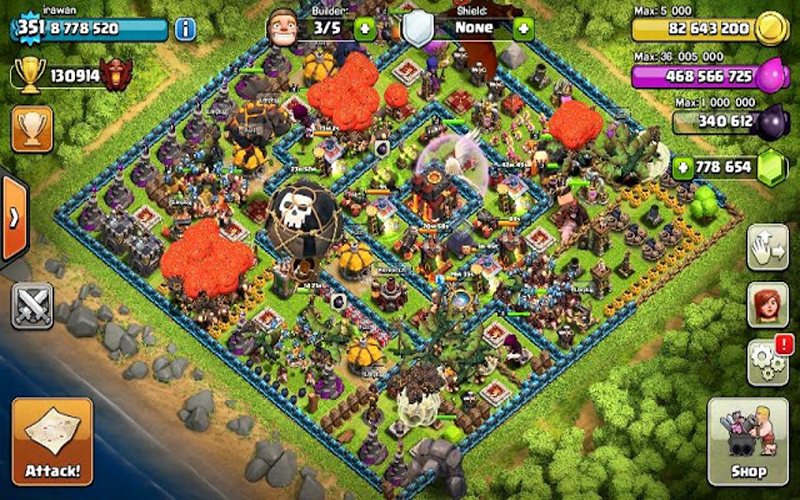 download clash of clans fhx apk for android