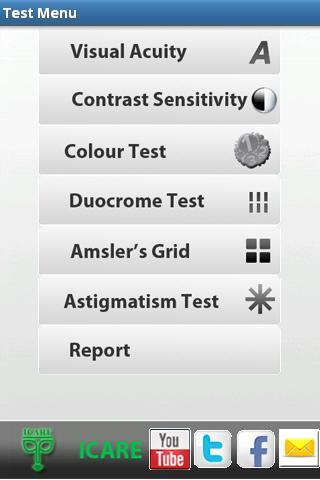 ICARE VISION TEST