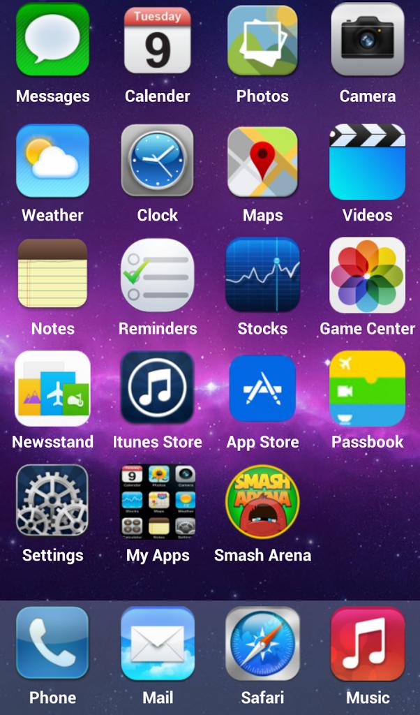 iOS 9 Launcher