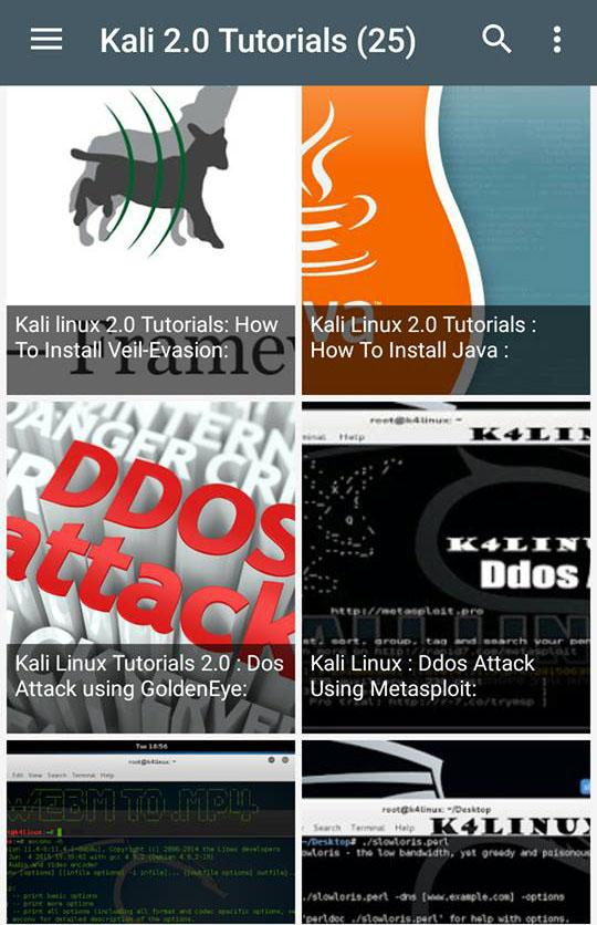 Kali Linux 2 0 Tutorials for Android - APK Download