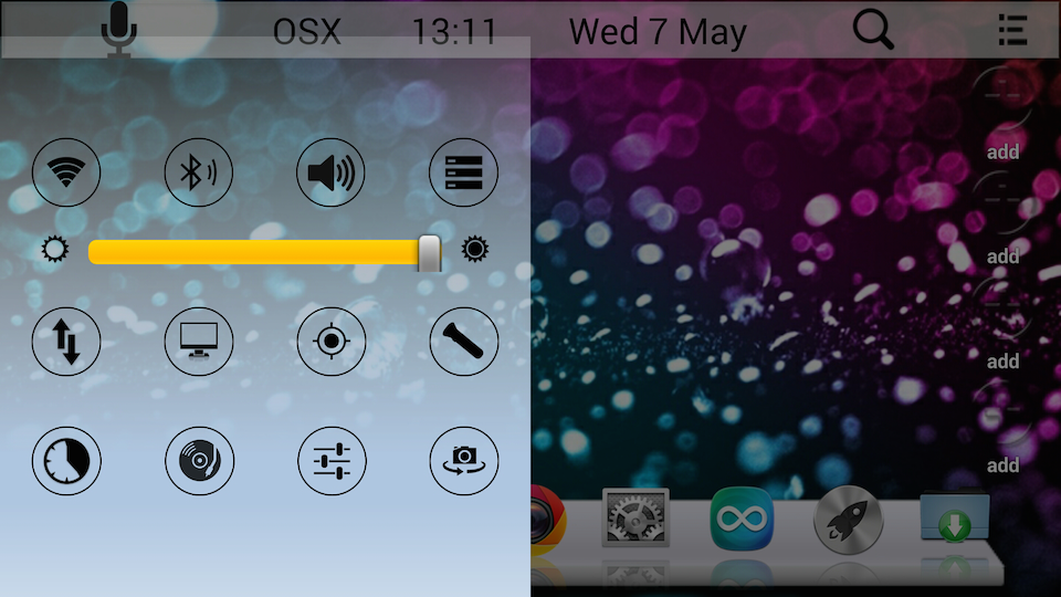 mac os x launcher for android