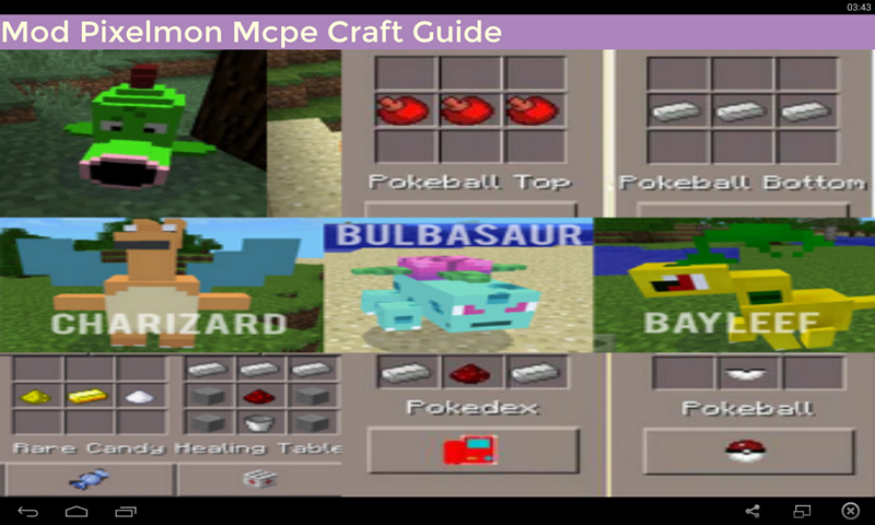 Mod Pixelmon Mcpe Craft Guide for Android - APK Download