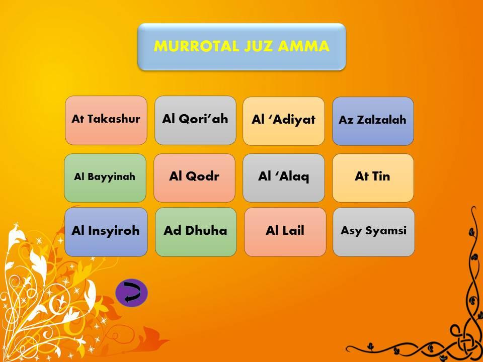 Ayat Al Quran Juz 30 Gambar Islami