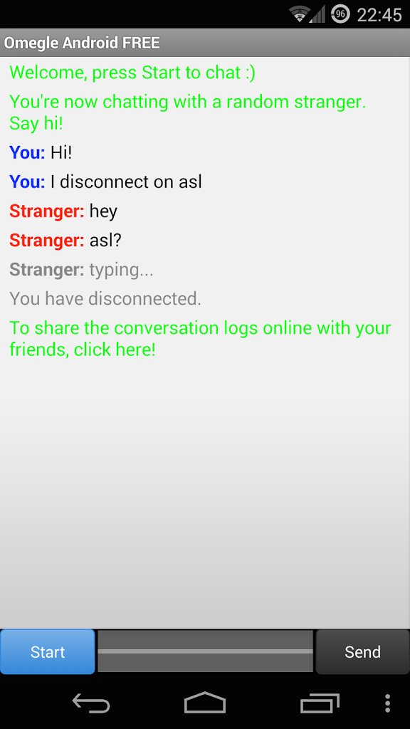 omegle chat free