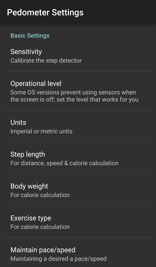 Pedometer - Calorie Counter