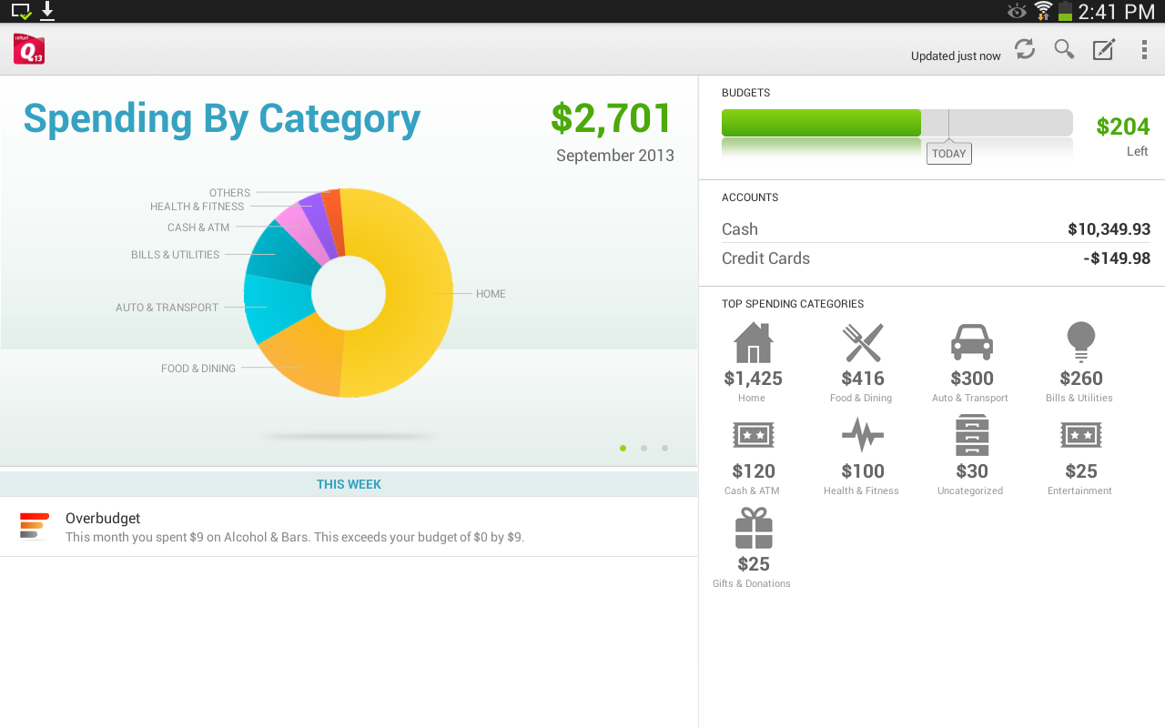 Quicken 2013 Money Management for Android - APK Download