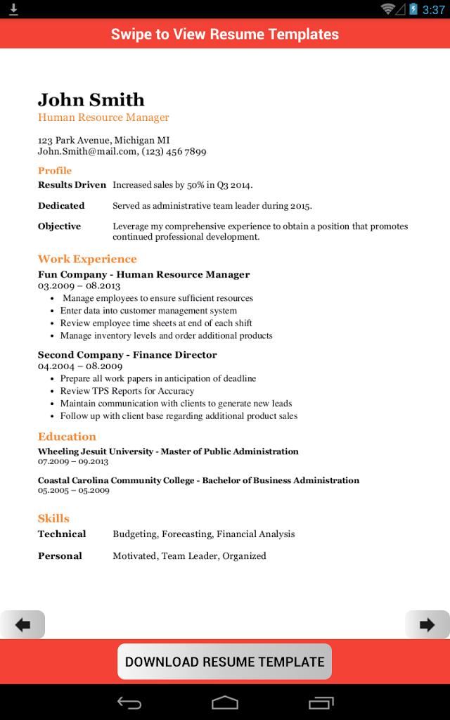 Resume Template Creator Pro