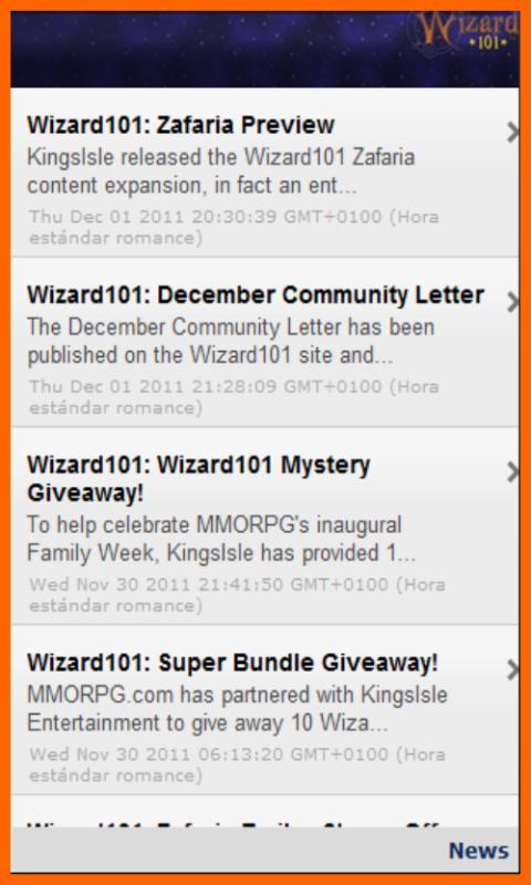 Wizard101 App
