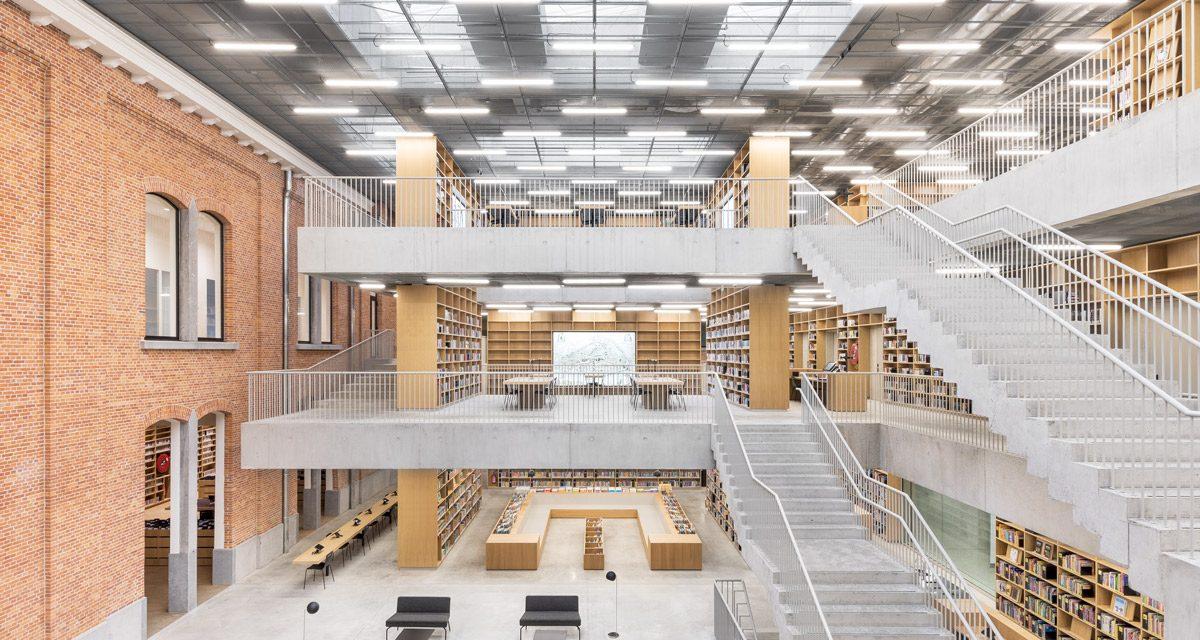 Com'è Utopia, la nuova biblioteca di Aalst a firma Kaan Architecten