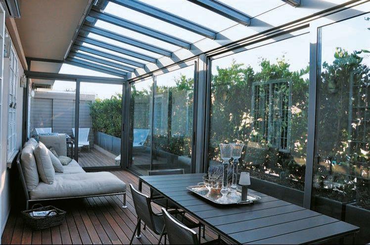 Progettazione esterni verande in vetro e giardini d inverno
