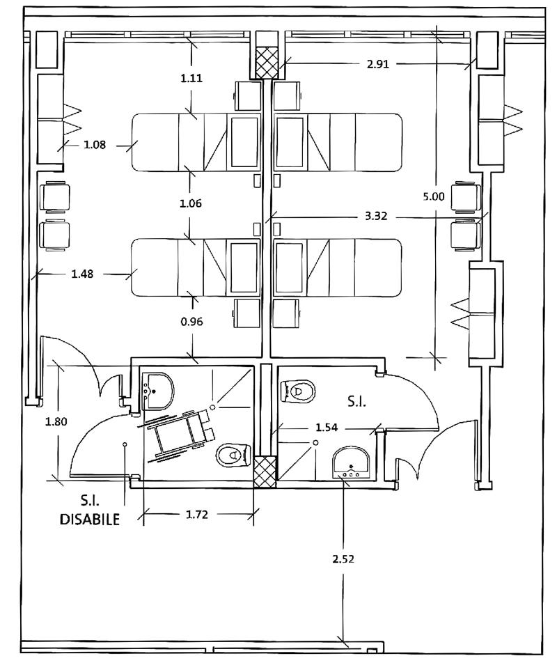 Armadio Camera Da Letto Misure Standard.Stanze Di Degenza Ospedaliera Requisiti E Criteri Progettuali