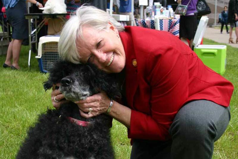 NC Rep Gale Adcock with Port Water Dog