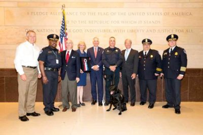 US Capitol Police K9 Unit receive AKC K9 Officers Award