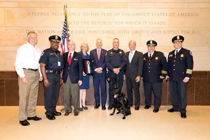 US Capitol Police K9 Unit receive AKC K9 Officers Award