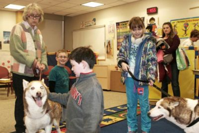 Canine Ambassadors Program with Siberian Huskies